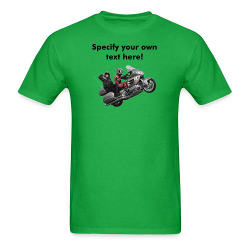 Men's T Front WWheelie custom - Men's T-Shirt
