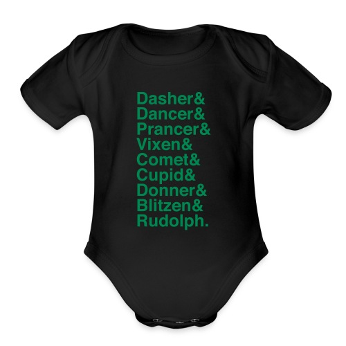 Christmas Reindeer - Organic Short Sleeve Baby Bodysuit