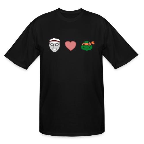 Zombie Kid Loves Turtles Tall T-Shirt - Men's Tall T-Shirt