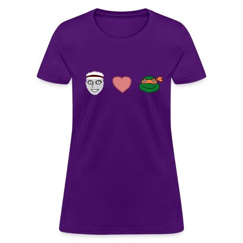 Zombie Kid Loves Turtles Women's T-Shirt - Women's T-Shirt