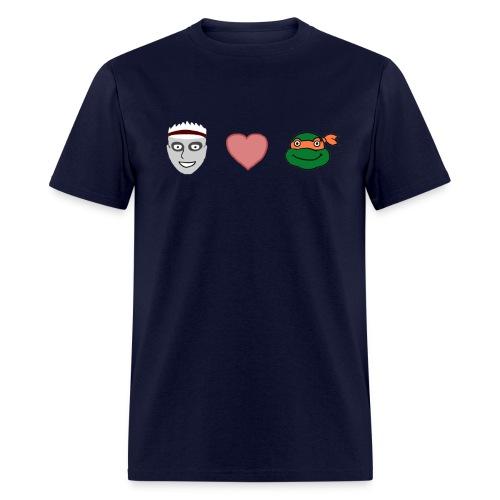 Zombie Kid Loves Turtles Men's T-Shirt - Men's T-Shirt