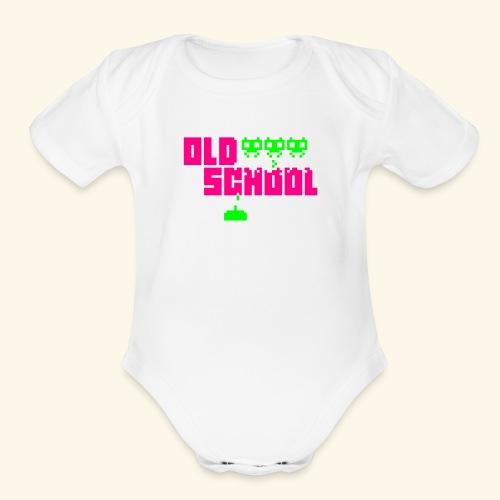 Old School (neon) - Organic Short Sleeve Baby Bodysuit