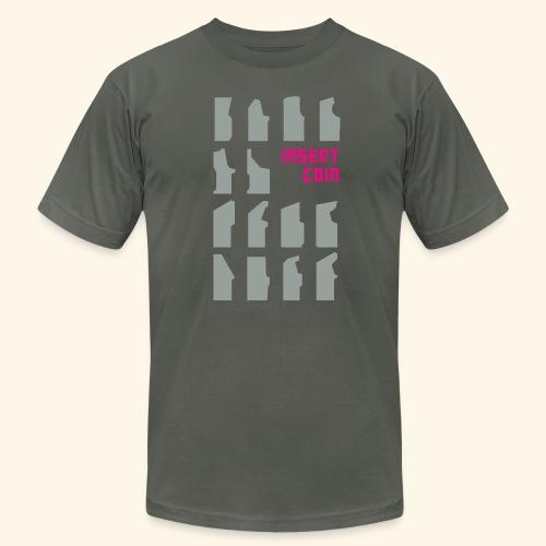 insertCoin (silver) - Men's Fine Jersey T-Shirt