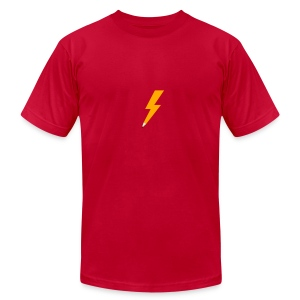 Graphic Thunder - Red AA - Men's T-Shirt by American Apparel