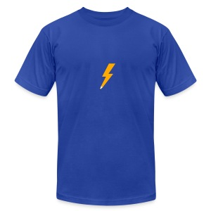 Graphic Thunder - Royal AA - Men's T-Shirt by American Apparel