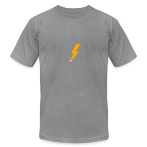 Graphic Thunder - Slate AA - Men's T-Shirt by American Apparel