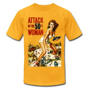 Attack of the 50ft. Woman - Men's T-Shirt by American Apparel