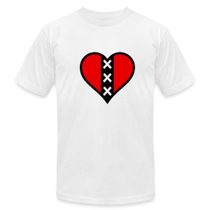I Love Amsterdam - Male Slim Fit - Men's T-Shirt by American Apparel