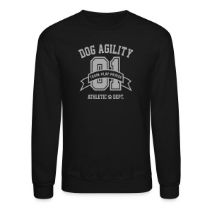 Dog Agility Athletic Dept. (Silver Glitz Printing) - Crewneck Sweatshirt
