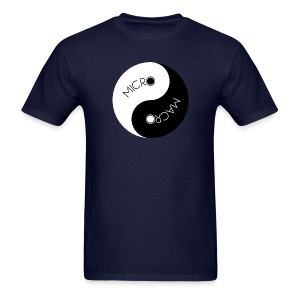 Micro Macro Balance - Men's Navy T - Men's T-Shirt