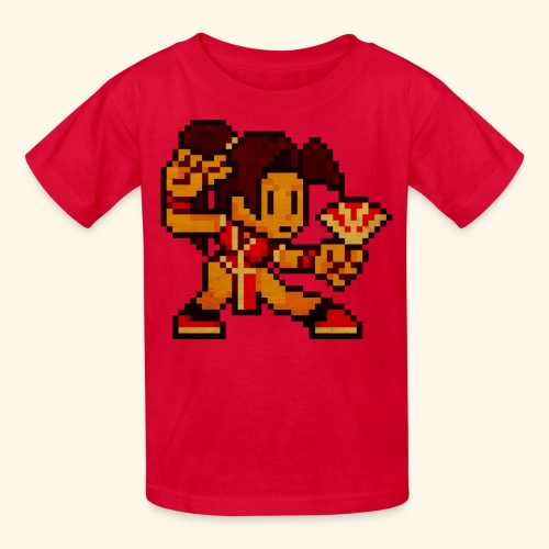 Pixelfighter ButterflyGirl (Vintageprint) - Kids' T-Shirt