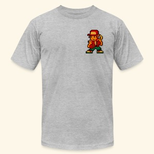Pixelfighter HungryWolf (Vintageprint) - Men's T-Shirt by American Apparel