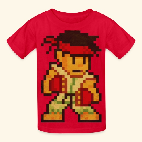 Pixelfighter Karateka (Vintageprint) - Kids' T-Shirt