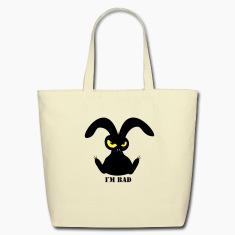 i´m bad rabbit bunny bunnies hare jackass eye evil gaze look Bags