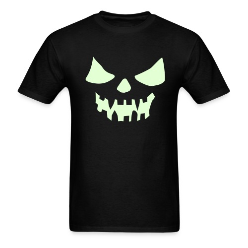 Glow in the dark - Wicked Pumpkin Face - Men's T-Shirt