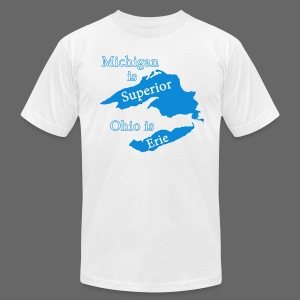 Michigan is Superior Men's American Apparel Tee - Men's T-Shirt by American Apparel