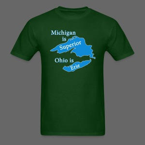 Michigan is Superior Men's Standard Weight T-Shirt - Men's T-Shirt