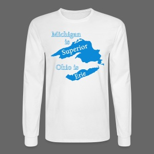 Michigan is Superior Men's Long Sleeve Tee - Men's Long Sleeve T-Shirt
