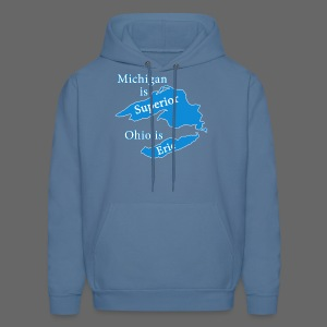 Michigan is Superior Men's Hooded Sweatshirt - Men's Hoodie