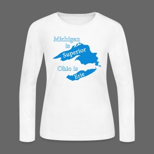 Michigan is Superior Women's Long Sleeve Jersey Tee - Women's Long Sleeve Jersey T-Shirt