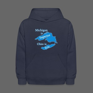 Michigan is Superior Kid's Hooded Sweatshirt - Kids' Hoodie