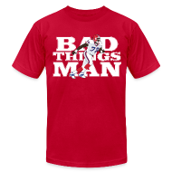 T-Shirts ~ Men's T-Shirt by American Apparel ~ Bad Things Man - Bruce Smith