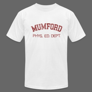 Mumford Phys. Ed. Dept. Men's American Apparel Tee - Men's T-Shirt by American Apparel
