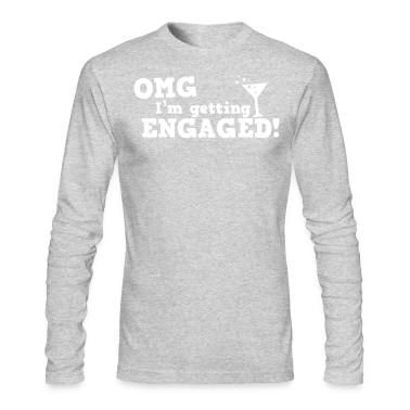 omg im getting engaged with coaktail glass marriage Long Sleeve Shirts