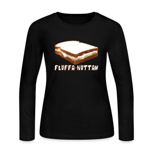 Fluffa Nuttah Women's Long Sleeve Jersey Tee - Women's Long Sleeve Jersey T-Shirt