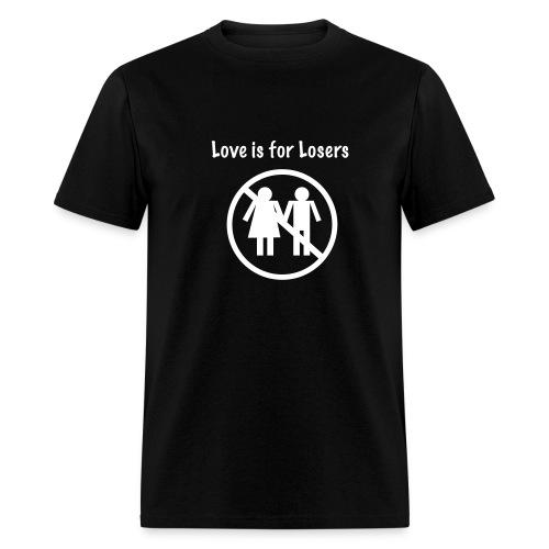 Men's/Love is for Losers (black) - Men's T-Shirt