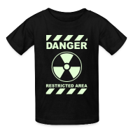 Kids' Shirts ~ Kids' T-Shirt ~ Funny Radioactive Label-Glow-In-The-Dark