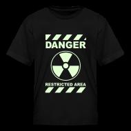 Kids' Shirts ~ Kids' T-Shirt ~ Funny Radioactive Label-Glow-In-The-Dark