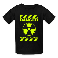 Kids' Shirts ~ Kids' T-Shirt ~ Funny Radioactive Label-Neon Yellow