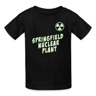 Kids' Shirts ~ Kids' T-Shirt ~ SPRINGFIELD NUCLEAR PLANT Glow-In-The-Dark