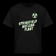 Kids' Shirts ~ Kids' T-Shirt ~ SPRINGFIELD NUCLEAR PLANT Glow-In-The-Dark