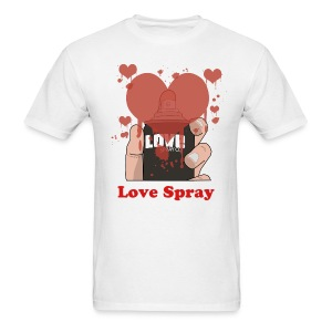 White Love Spray - Men's T-Shirt
