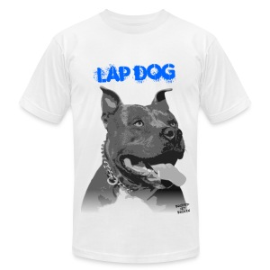 Lap Dog Men's Tee (White) - Men's T-Shirt by American Apparel