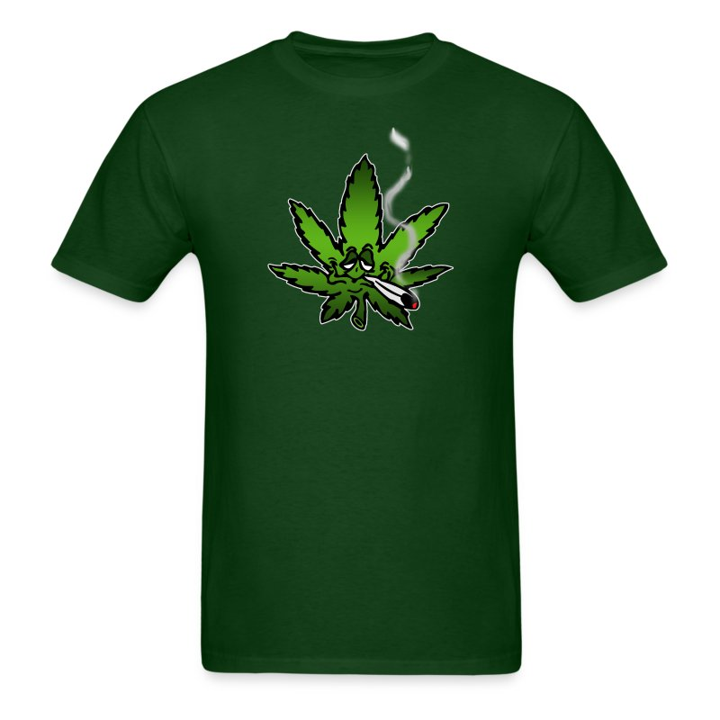Stoned marijuana leaf - Men's T-Shirt