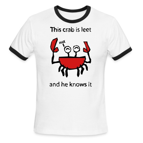 leetcrab - Men's Ringer T-Shirt