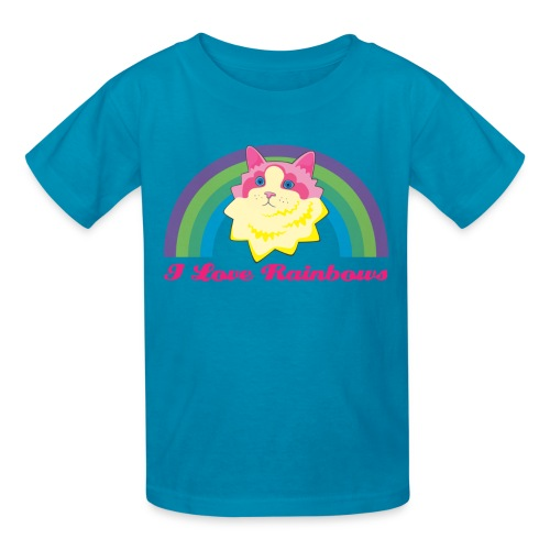 Rainbow Cat Kids Tee - Kids' T-Shirt