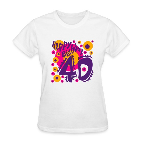 Happy Birthday 40 - Women's T-Shirt