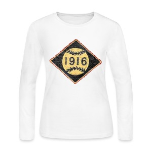 Boston 1916 Patch Women's Long Sleeve Jersey Tee - Women's Long Sleeve Jersey T-Shirt