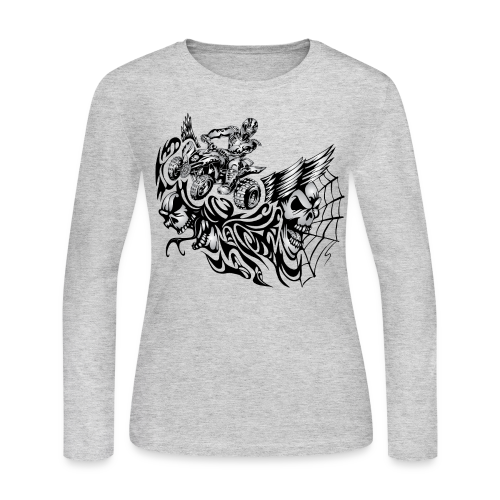 Quad Blazed Wickedness - Women's Long Sleeve Jersey T-Shirt