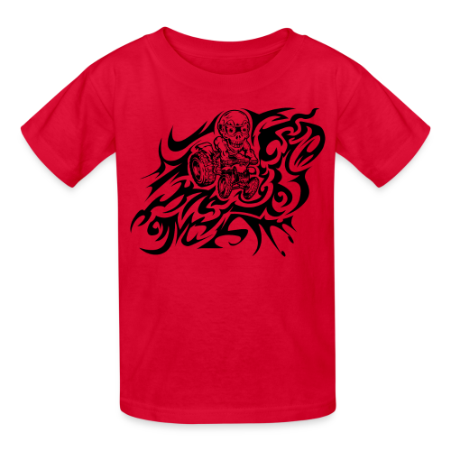 Flamed Skully - Kids' T-Shirt