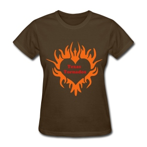 Women's Brown Texas Tornado T-Shirt - Women's T-Shirt