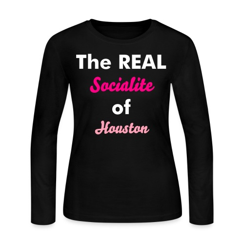 The Real Socialite of Houston - Women's Long Sleeve Jersey T-Shirt