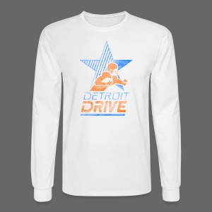 Detroit Drive Men's Long Sleeve Tee - Men's Long Sleeve T-Shirt