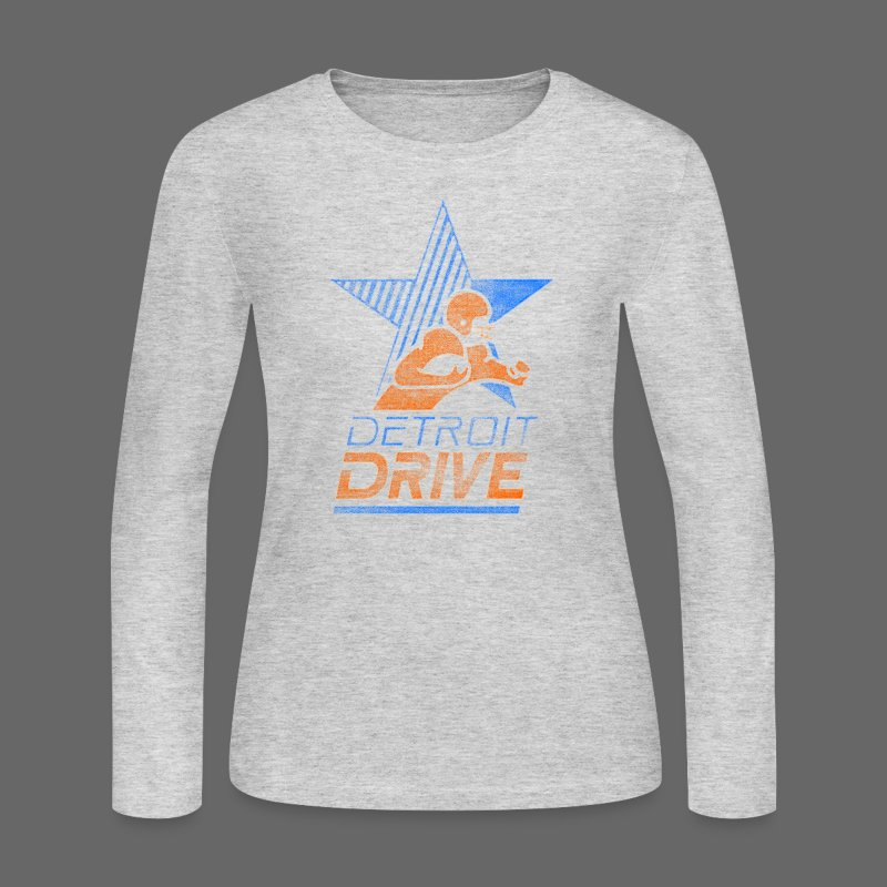 Detroit Drive Women's Long Sleeve Jersey Tee - Women's Long Sleeve Jersey T-Shirt
