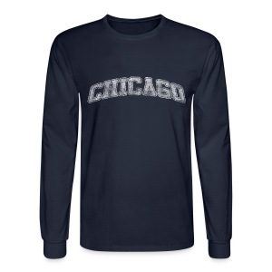 Chicago Arch - Men's Long Sleeve T-Shirt