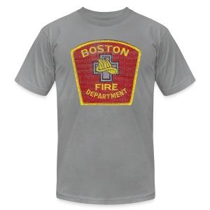 Boston Fire Department Patch Style Men's American Apparel Tee - Men's Fine Jersey T-Shirt